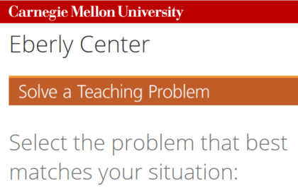 Prof: l'outil de Carnegie Mellon pour résoudre vos 36 problèmes de profs